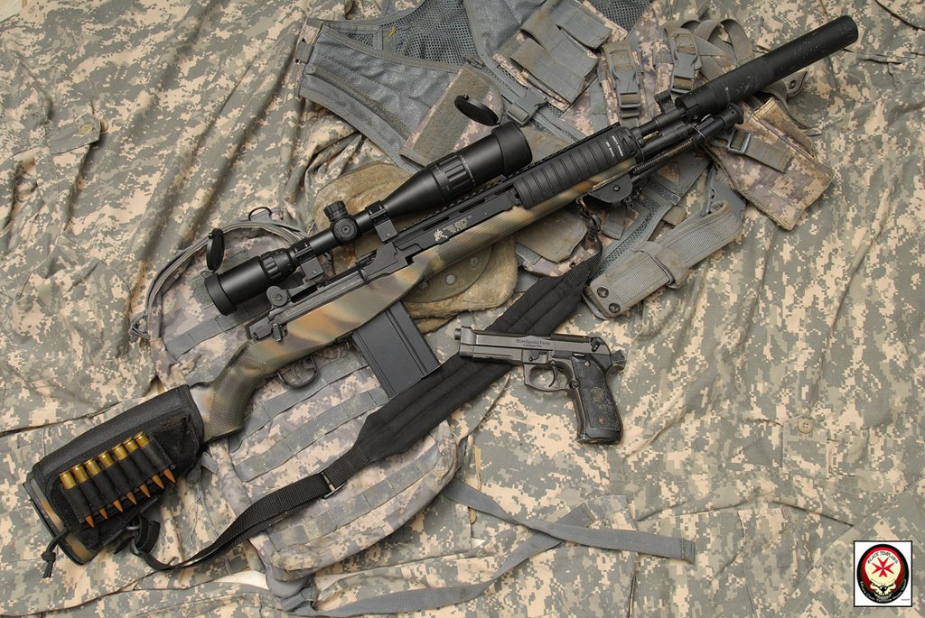 M14 Socom Suppressed Airsoft Weapon Builds